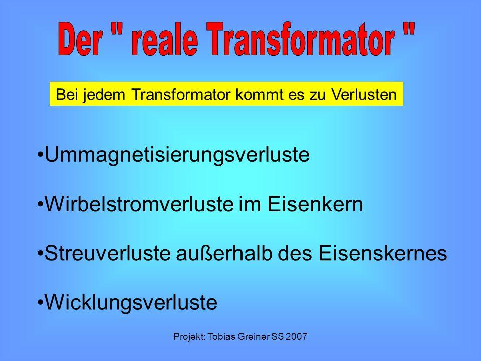 Der reale Transformator