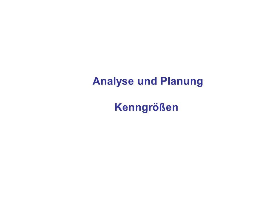 Analyse und Planung Kenngrößen