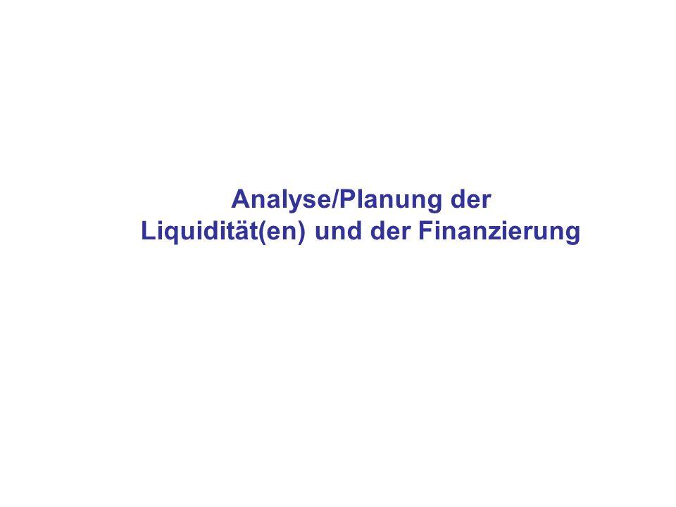 Liquidität(en) und der Finanzierung