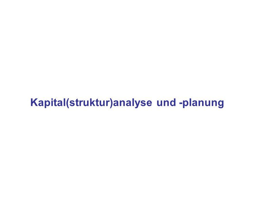 Kapital(struktur)analyse und -planung