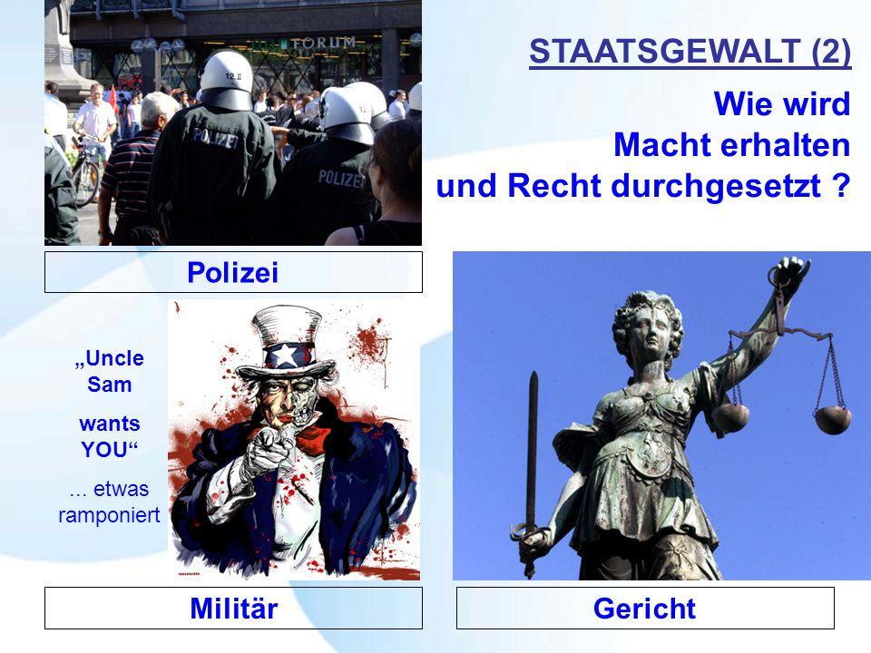 STAATSGEWALT (2) Wie wird Macht erhalten und Recht durchgesetzt