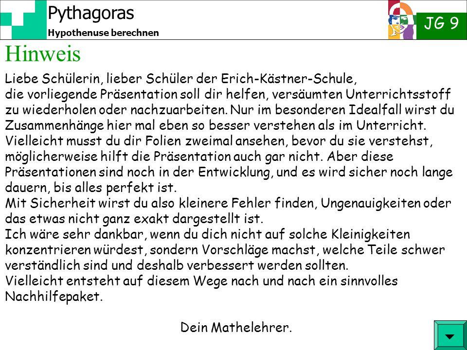 Hinweis  Liebe Schülerin, lieber Schüler der Erich-Kästner-Schule,