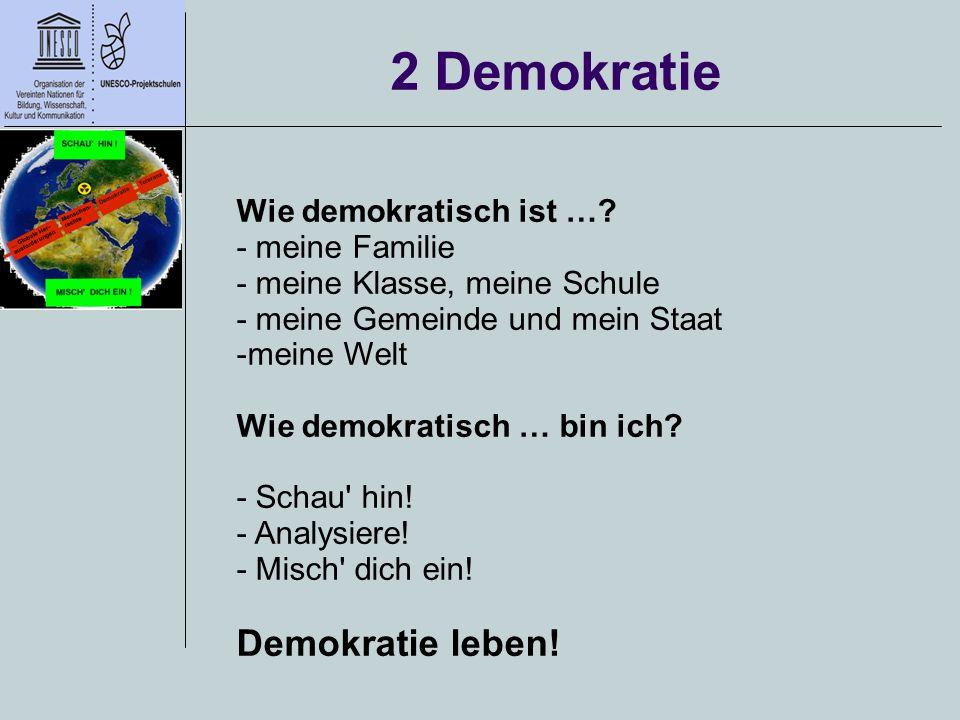 2 Demokratie Demokratie leben! Wie demokratisch ist … - meine Familie