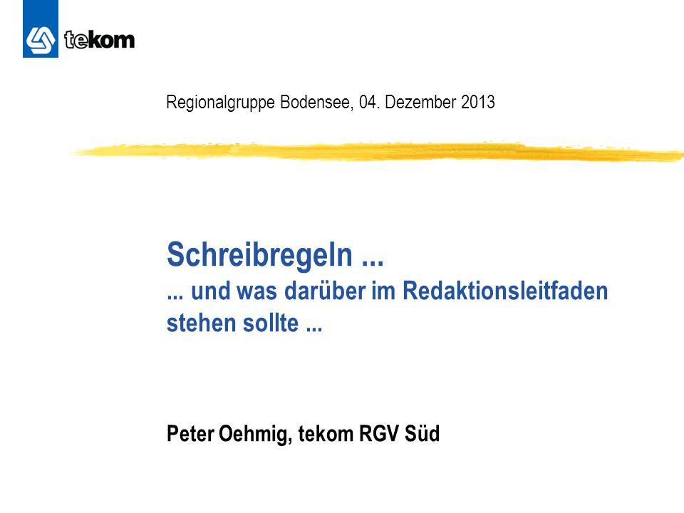 Regionalgruppe Bodensee, 04. Dezember 2013