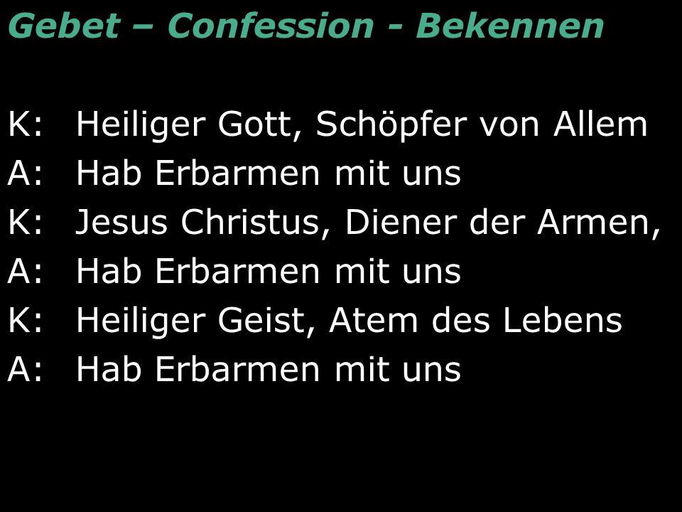 Gebet – Confession - Bekennen