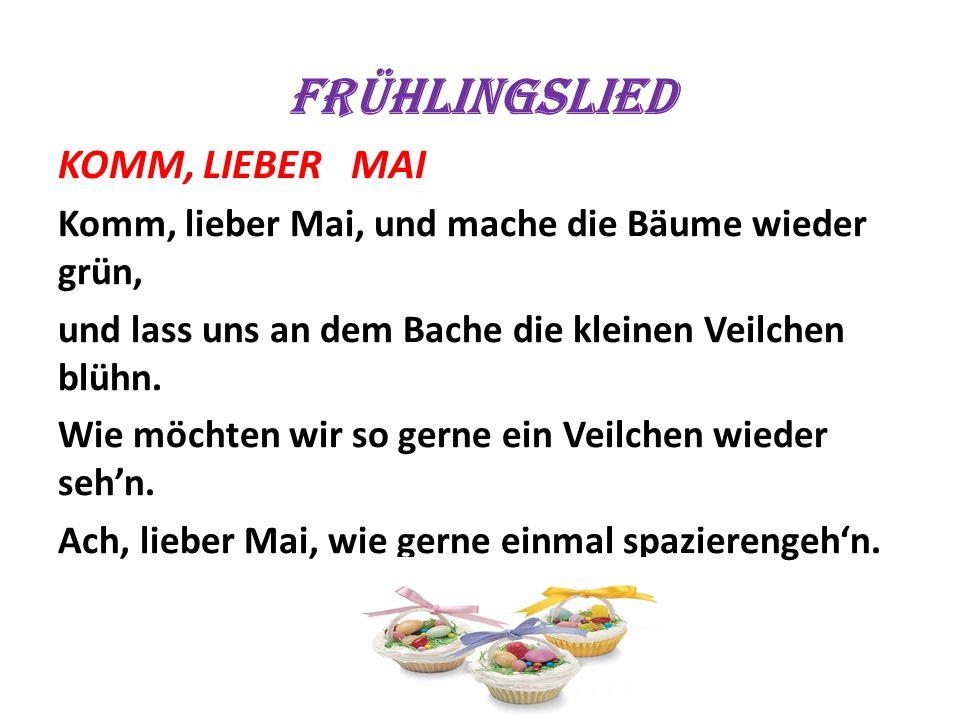 Frühlingslied KOMM, LIEBER MAI