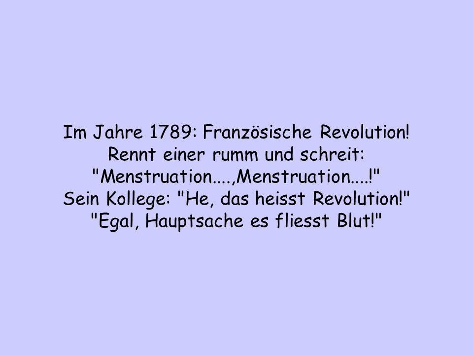 Im Jahre 1789: Französische Revolution