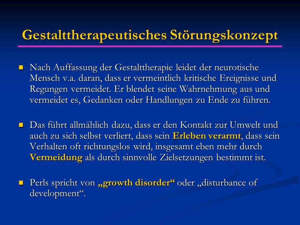 Gestalttherapeutisches Störungskonzept