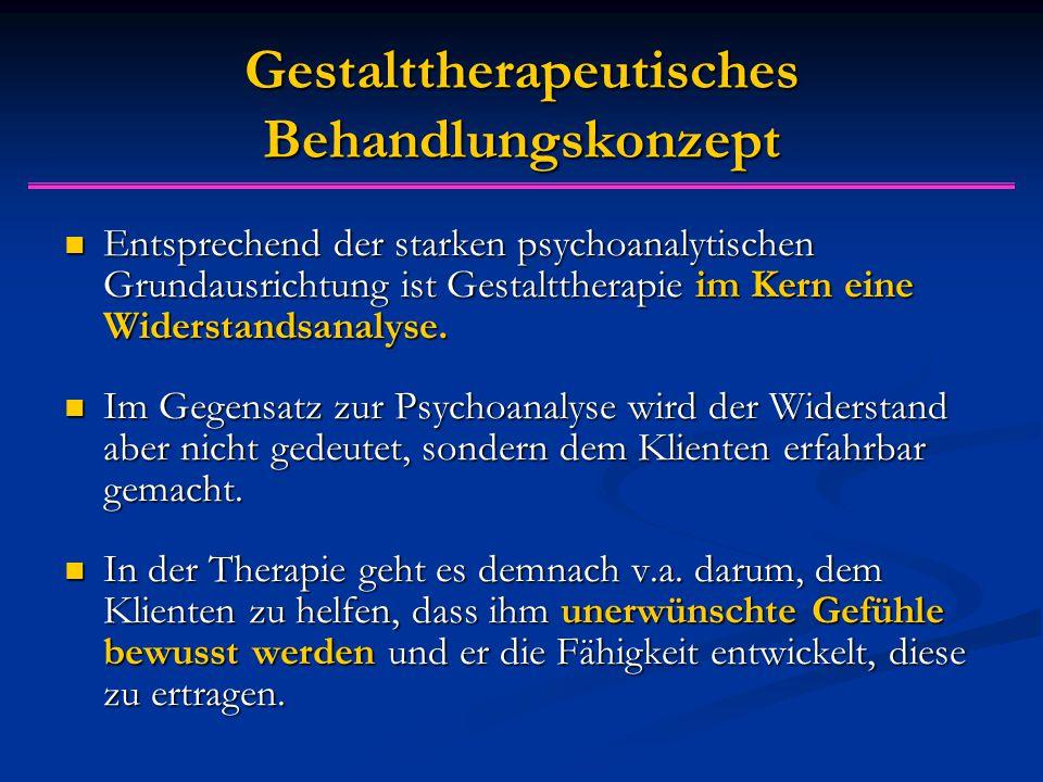 Gestalttherapeutisches Behandlungskonzept
