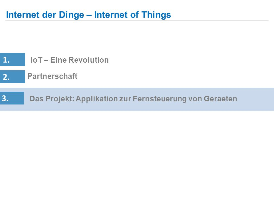 Internet der Dinge – Internet of Things