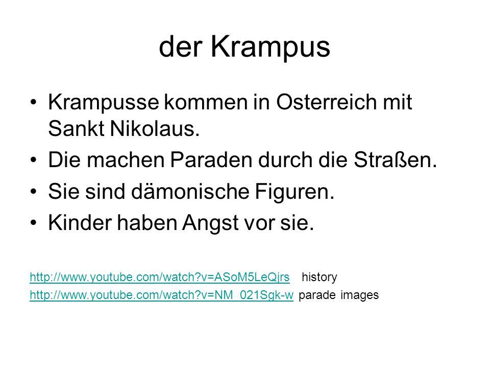 der Krampus Krampusse kommen in Osterreich mit Sankt Nikolaus.