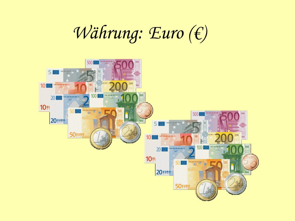 Währung: Euro (€)