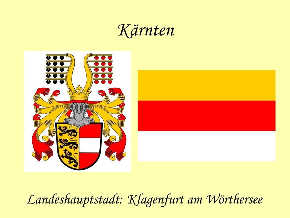 Landeshauptstadt: Klagenfurt am Wörthersee