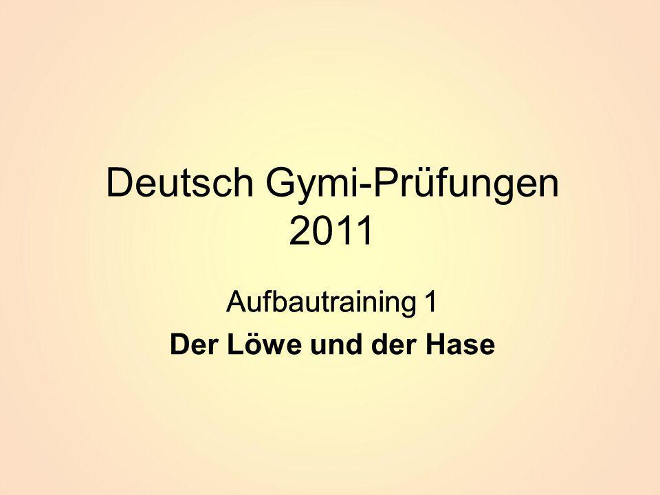 Deutsch Gymi-Prüfungen 2011