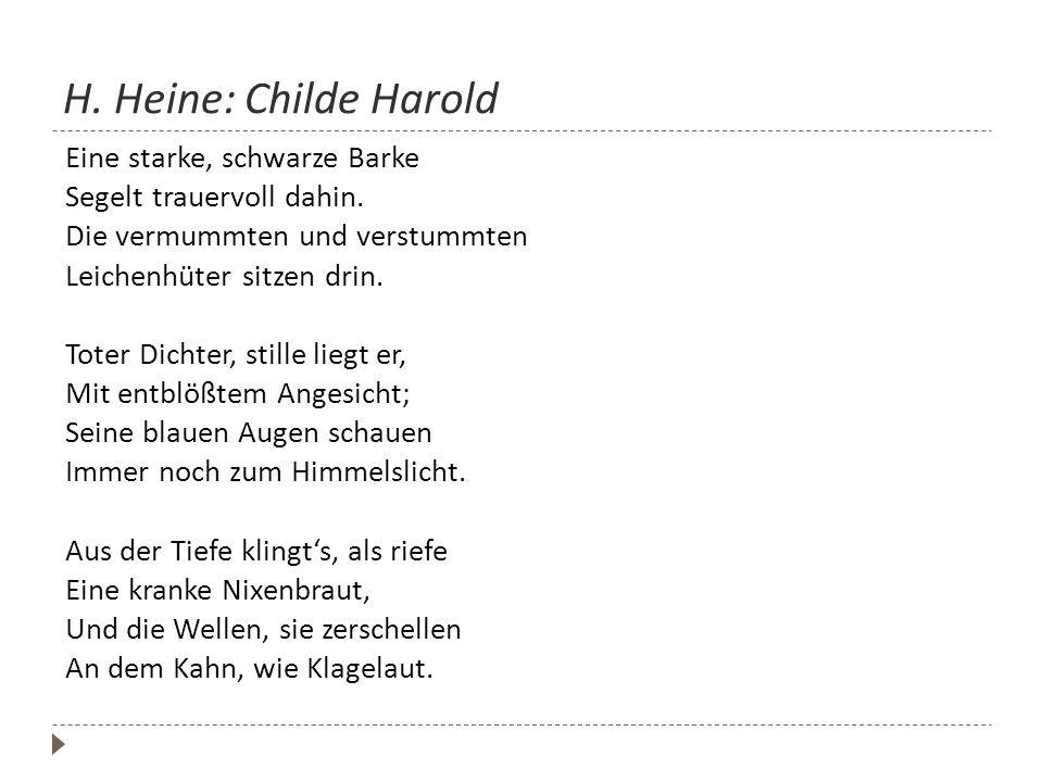 H. Heine: Childe Harold