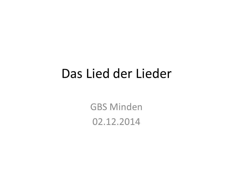 Das Lied der Lieder GBS Minden 02.12.2014
