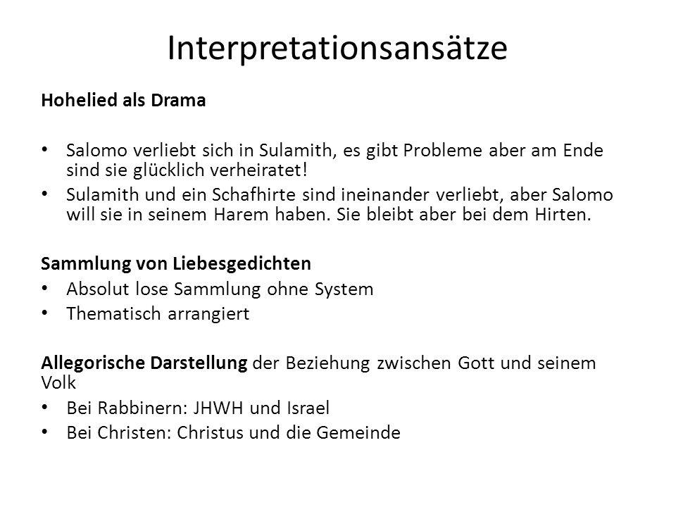 Interpretationsansätze