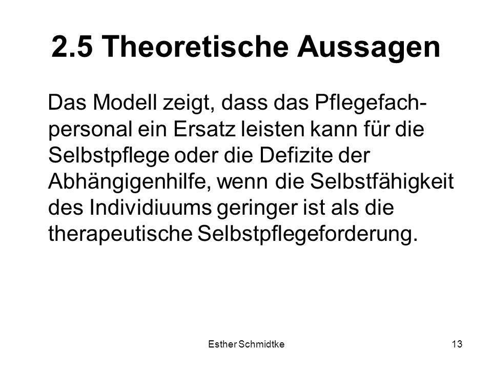 2.5 Theoretische Aussagen