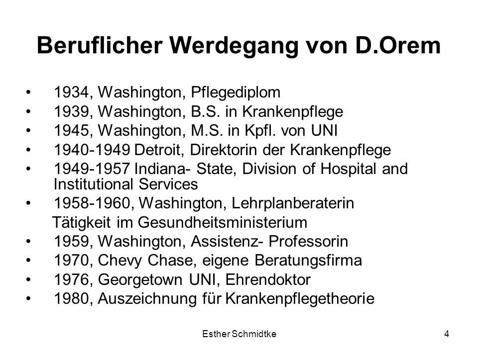 Beruflicher Werdegang von D.Orem