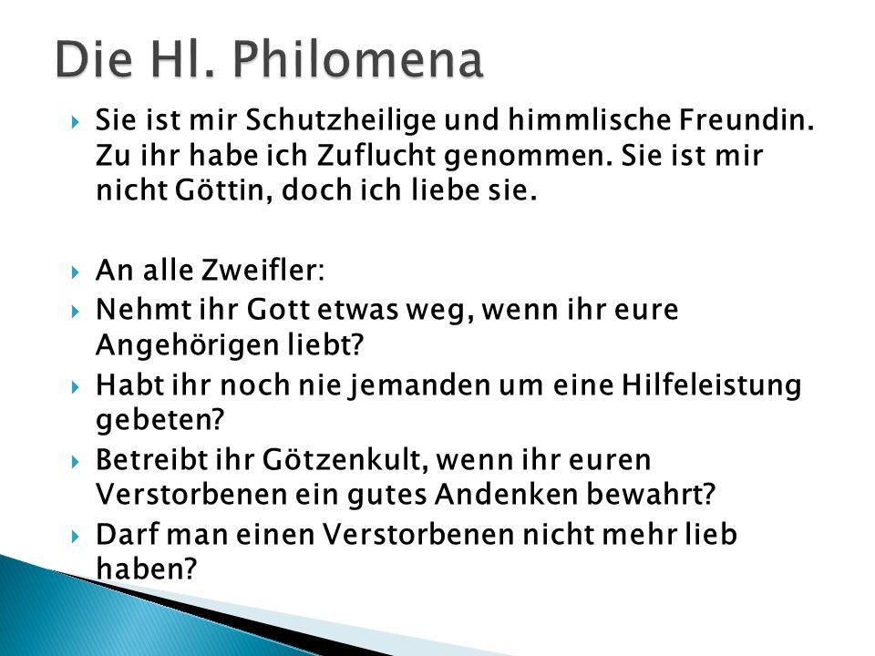 Die Hl. Philomena
