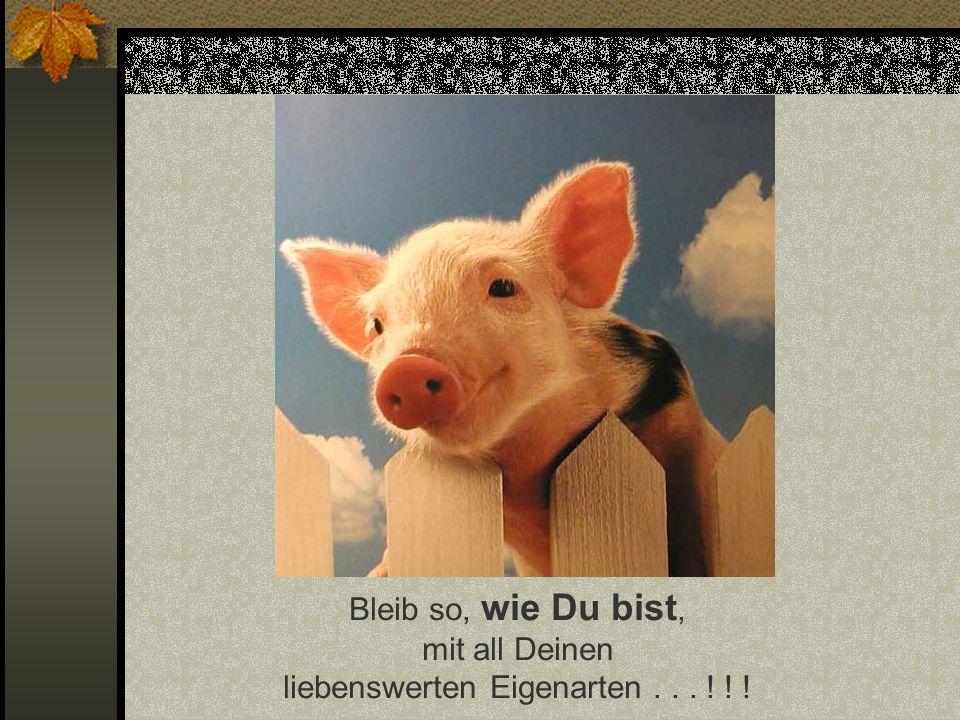 Funny-Powerpoints.net Bleib so, wie Du bist, mit all Deinen liebenswerten Eigenarten . . . ! ! !