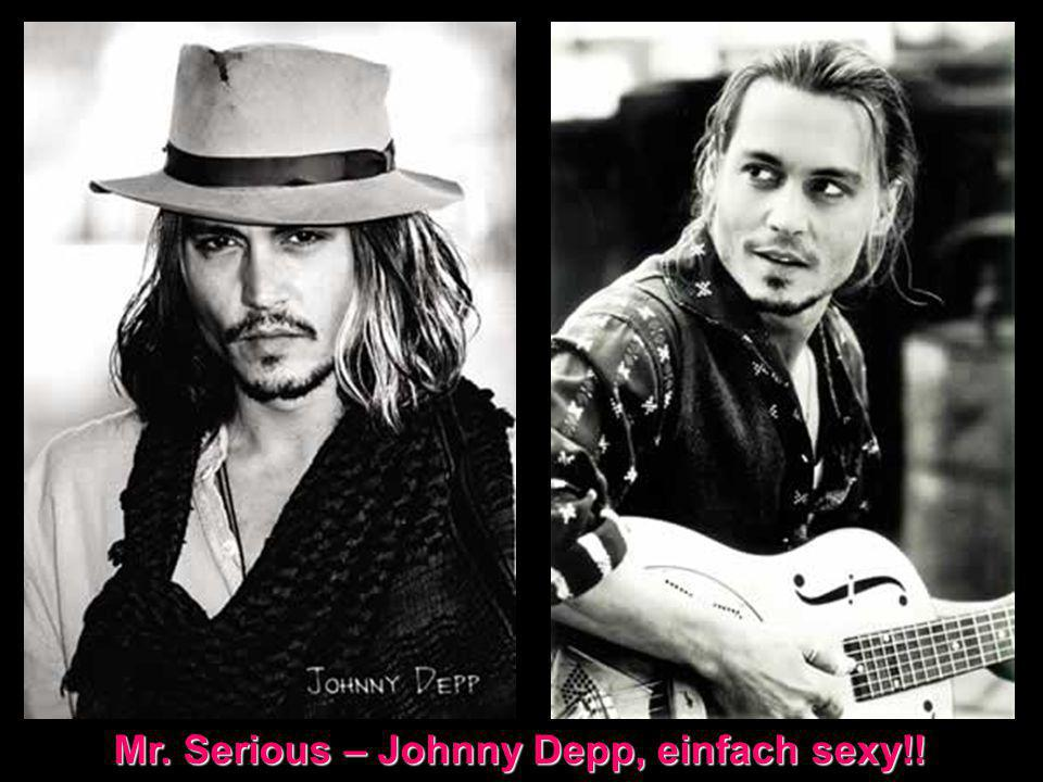 Mr. Serious – Johnny Depp, einfach sexy!!