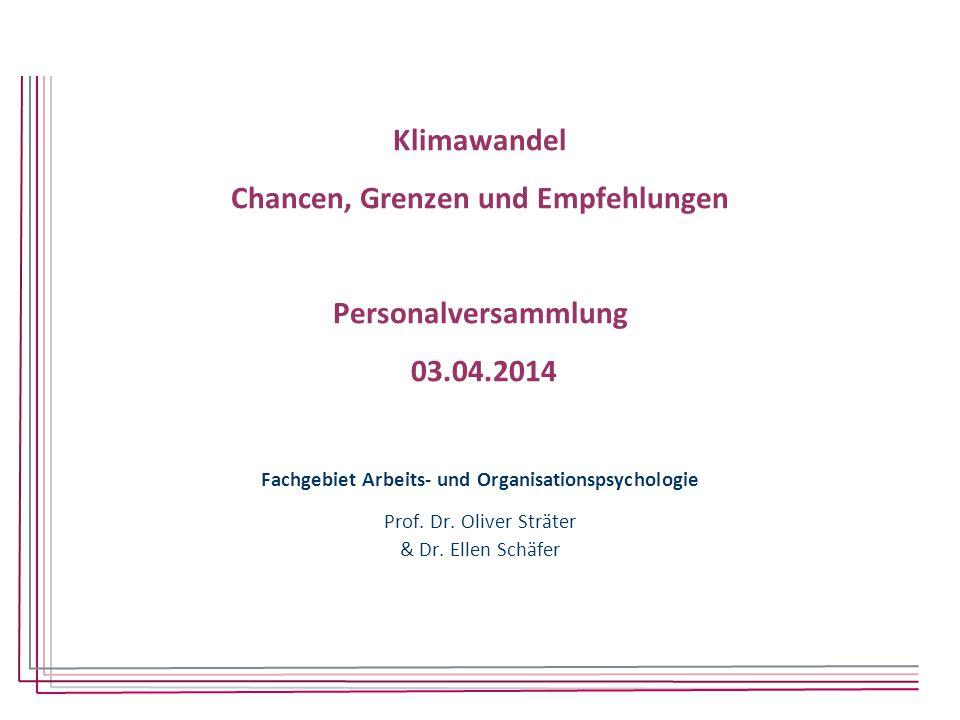 Fachgebiet Arbeits- und Organisationspsychologie