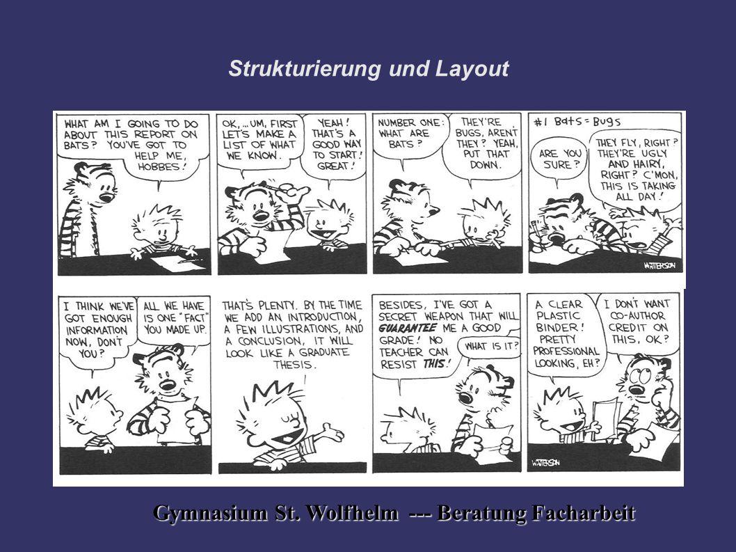 Strukturierung und Layout