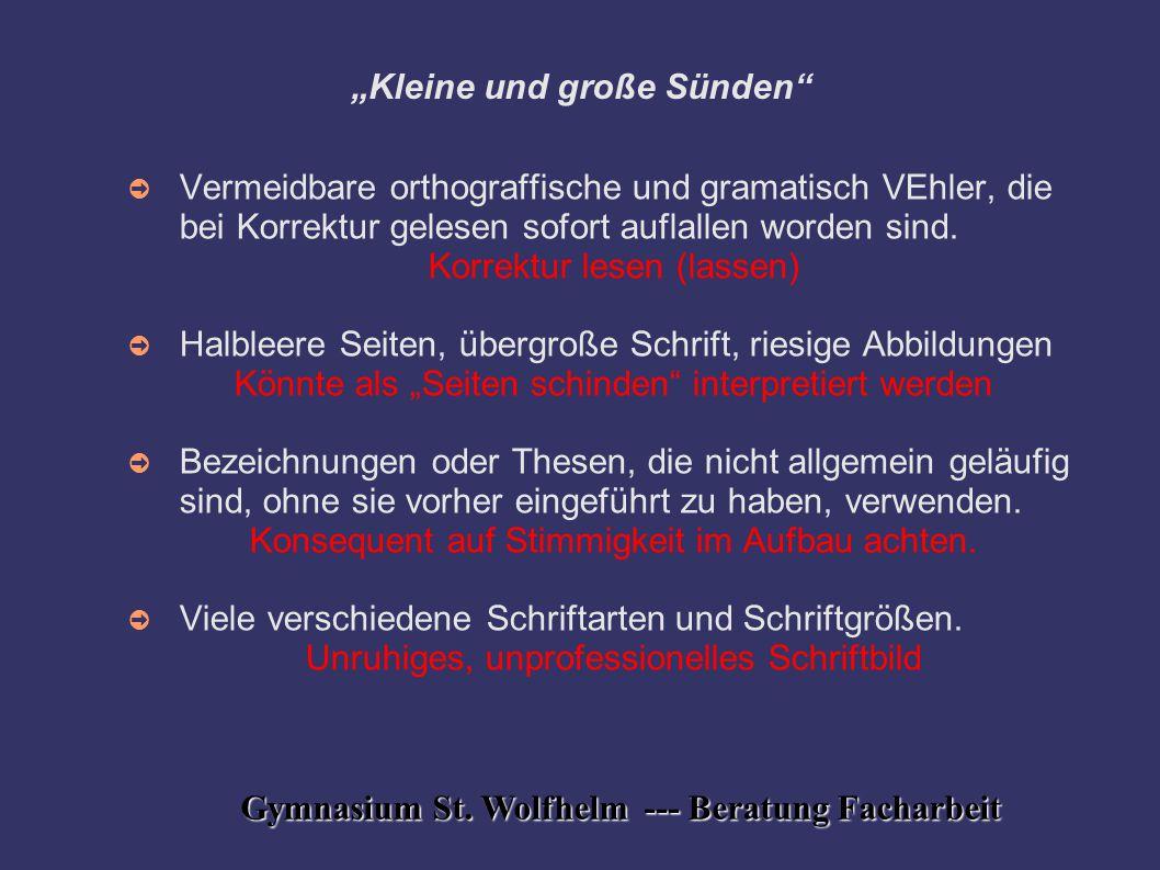 """""""Kleine und große Sünden"""