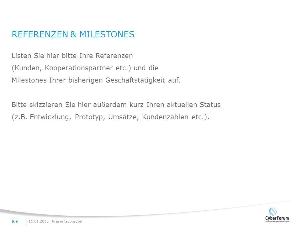 Referenzen & Milestones