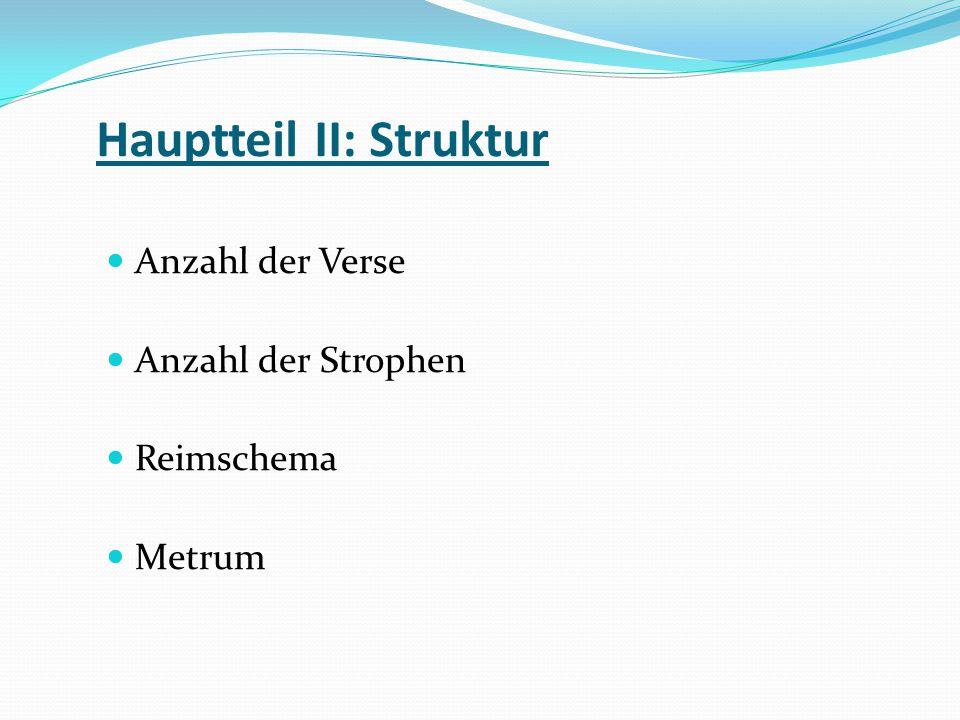 Hauptteil II: Struktur