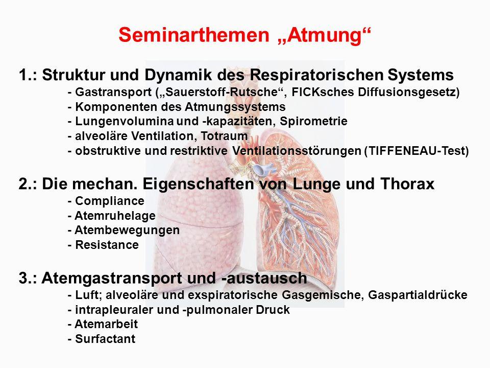 """Seminarthemen """"Atmung"""" - ppt video online herunterladen"""