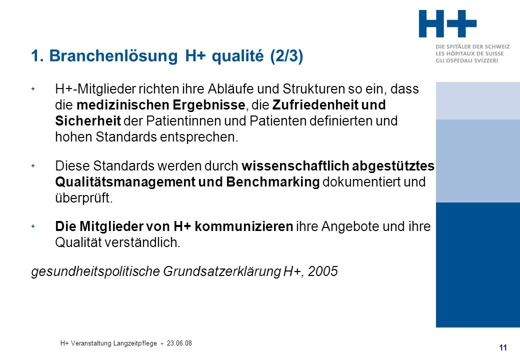1. Branchenlösung H+ qualité (2/3)