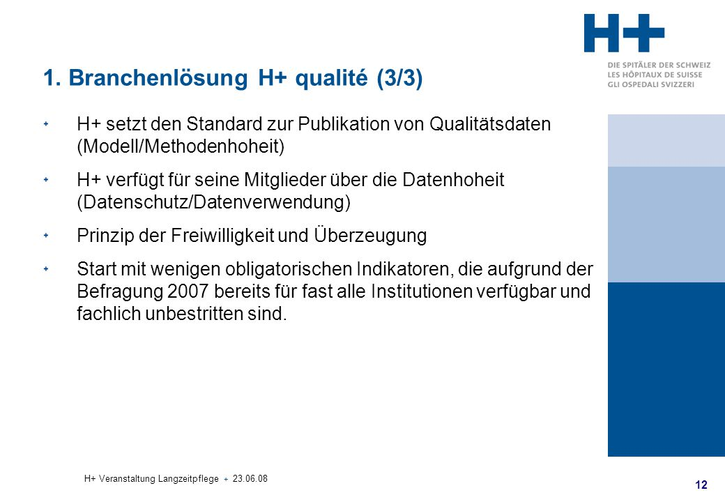 1. Branchenlösung H+ qualité (3/3)