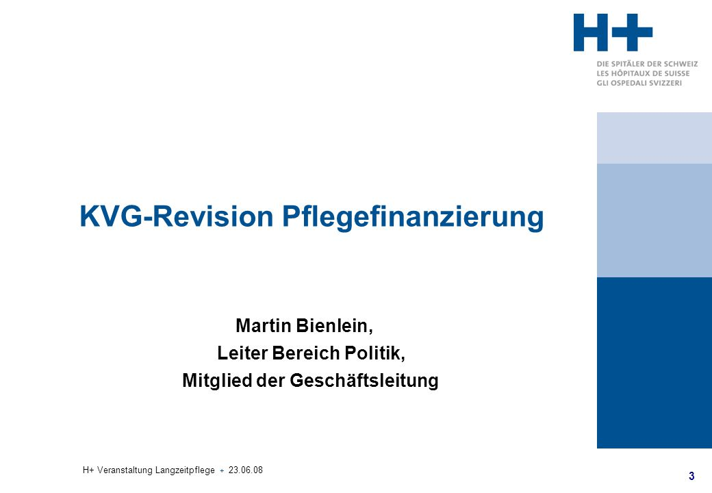 KVG-Revision Pflegefinanzierung