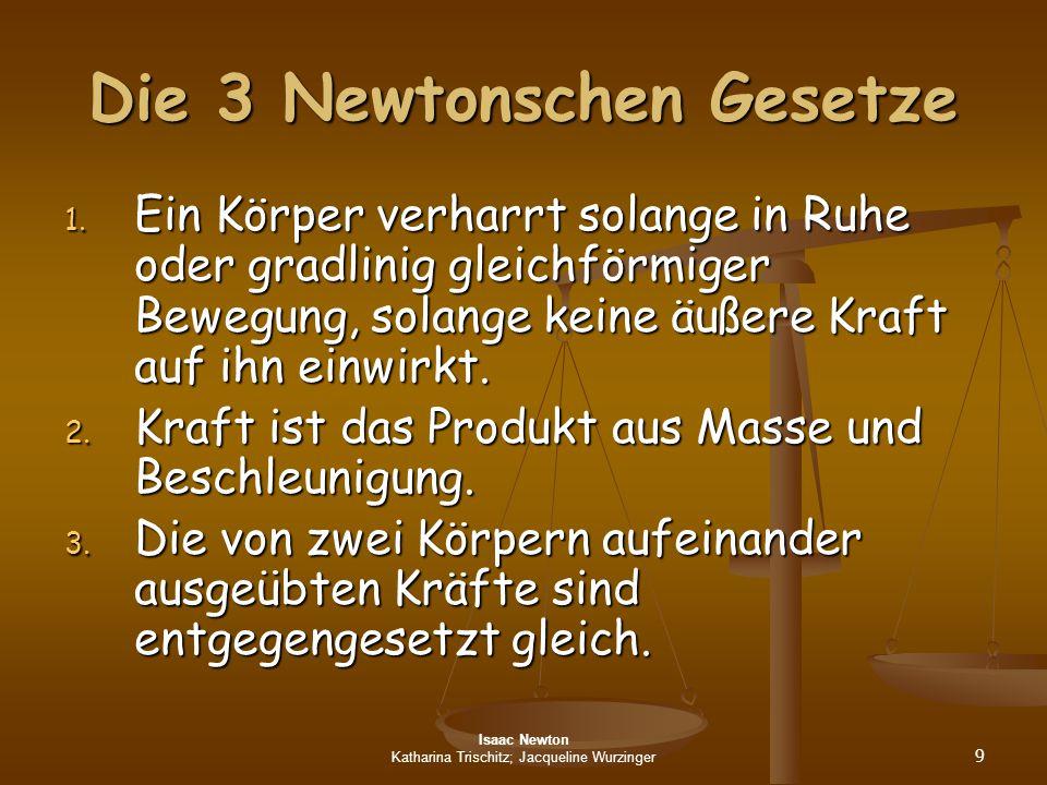 Die 3 Newtonschen Gesetze