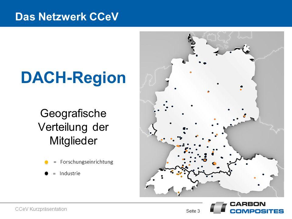 Geografische Verteilung der Mitglieder