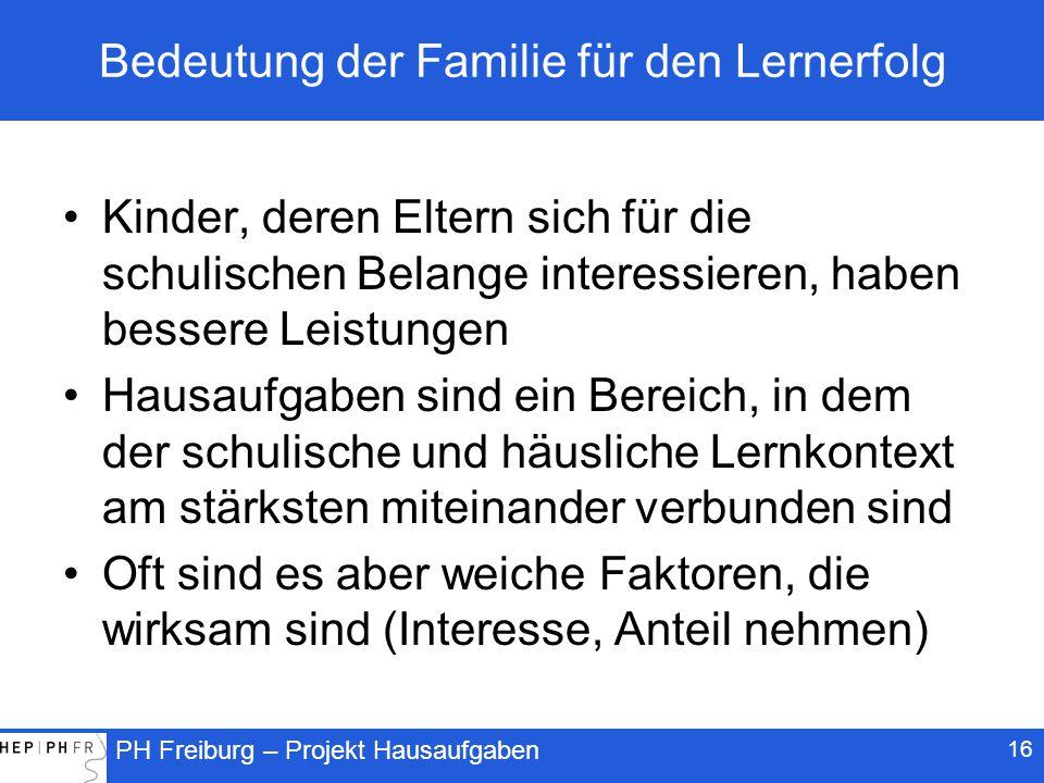 Bedeutung der Familie für den Lernerfolg