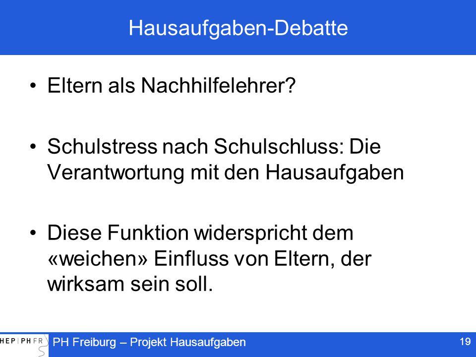 Hausaufgaben-Debatte