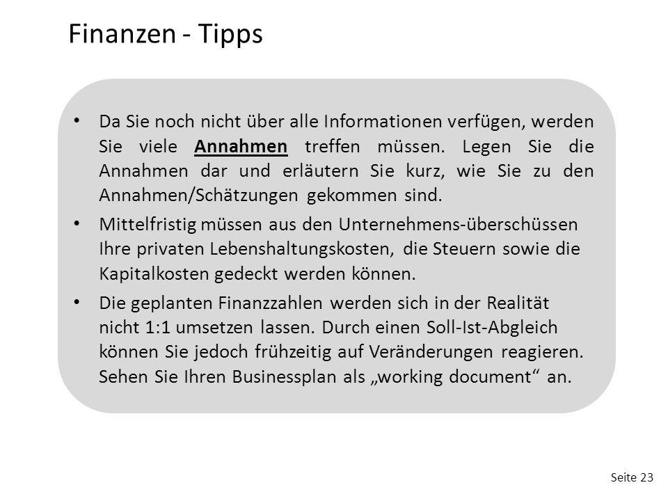Finanzen - Tipps