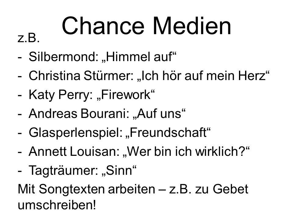 """Chance Medien z.B. Silbermond: """"Himmel auf"""