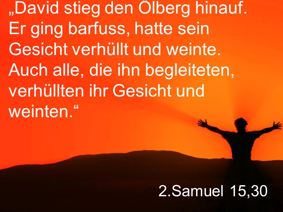 """David stieg den Ölberg hinauf"