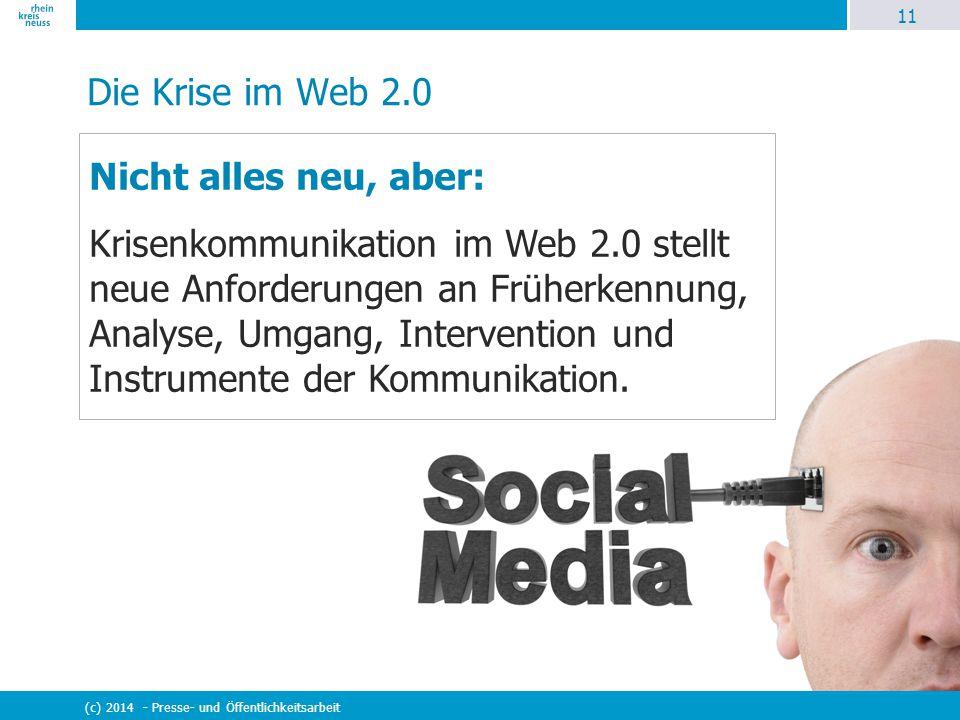 Die Krise im Web 2.0 Nicht alles neu, aber: