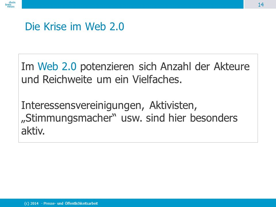 Die Krise im Web 2.0