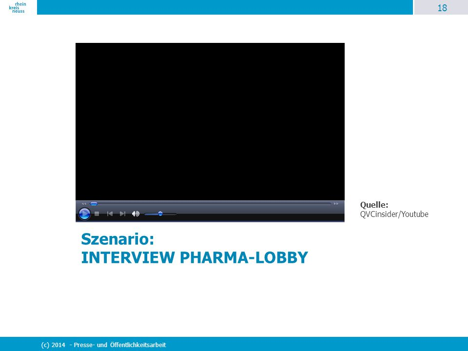 Szenario: INTERVIEW PHARMA-LOBBY