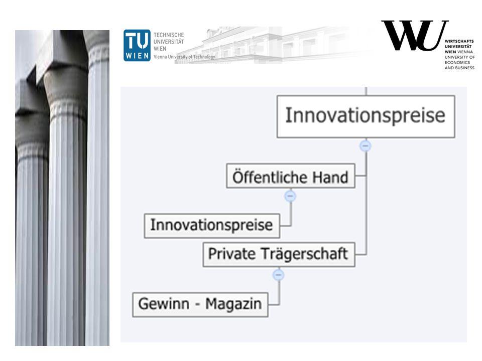 Nicht nur die ViennaTec vergibt selber einen Innovationspreis, auch andere INNOVATIONSPREISE werden vergeben: