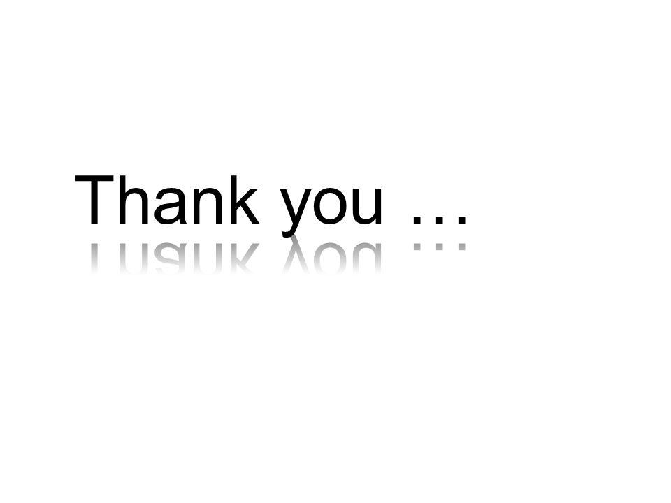 Thank you … Einen herzlichen Dank (…)