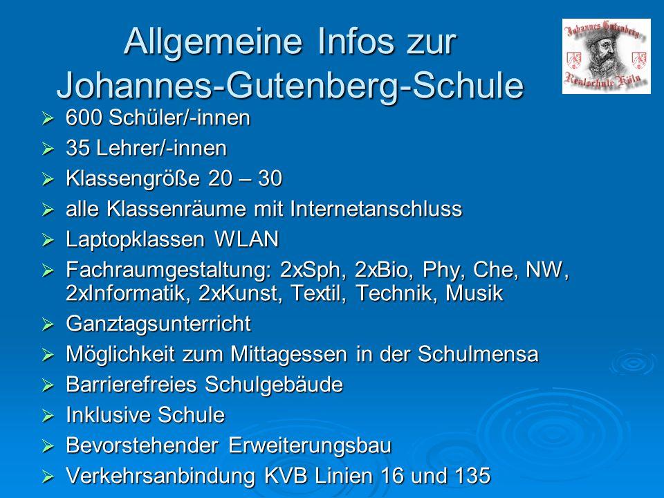 Allgemeine Infos zur Johannes-Gutenberg-Schule