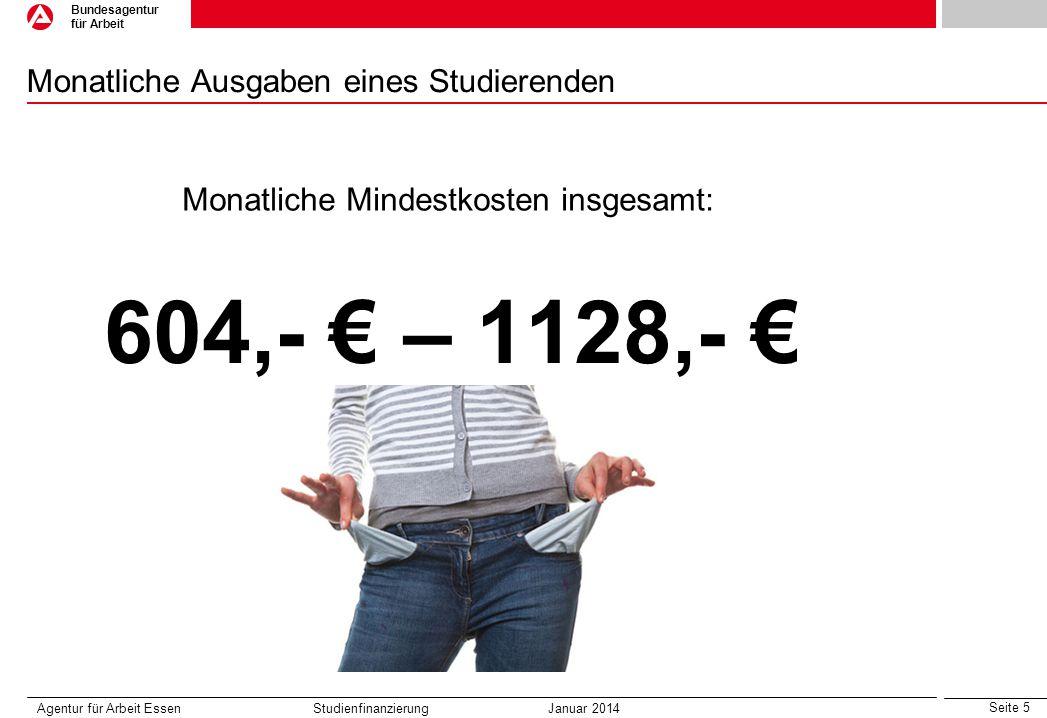 Monatliche Ausgaben eines Studierenden