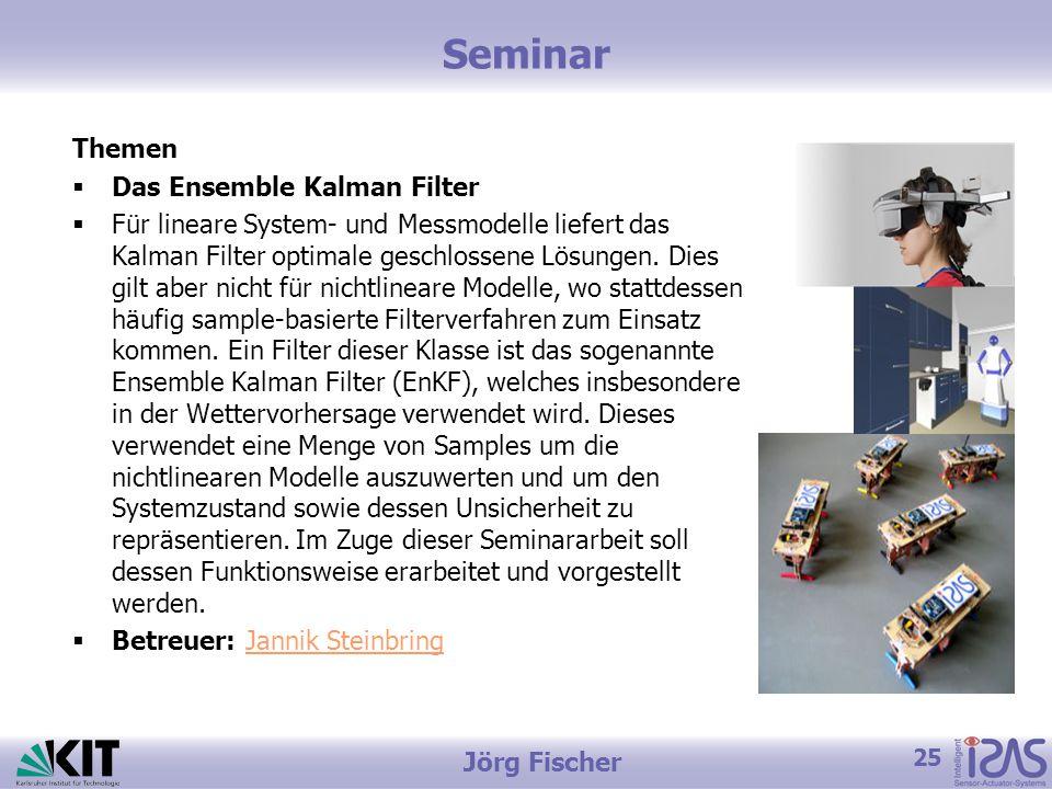 Seminar Themen Das Ensemble Kalman Filter